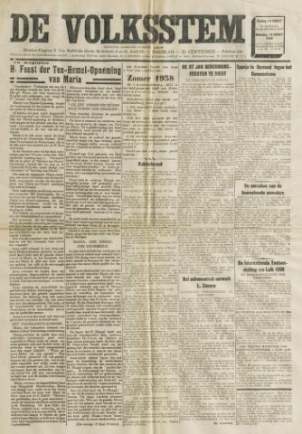 De Volksstem 1938-08-14