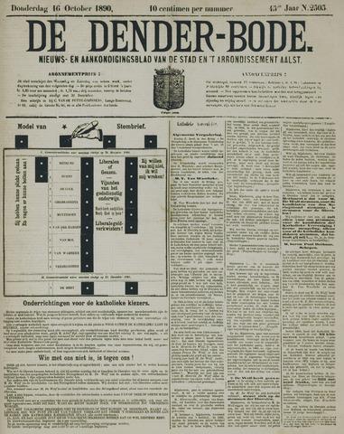 De Denderbode 1890-10-16