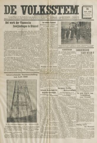 De Volksstem 1938-11-16
