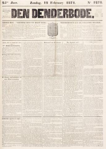 De Denderbode 1871-02-12