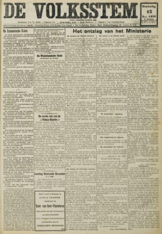 De Volksstem 1930-11-13