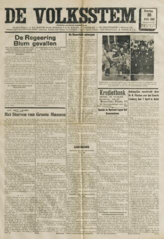 De Volksstem 1938-04-10