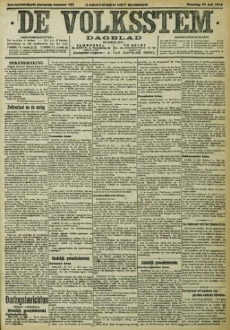 De Volksstem 1915-07-27