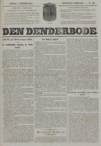 De Denderbode 1854-10-01