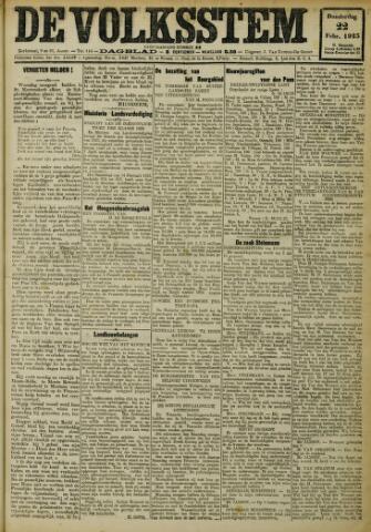 De Volksstem 1923-02-22