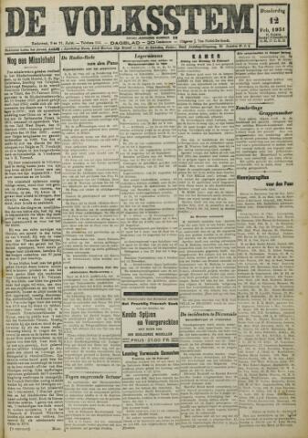 De Volksstem 1931-02-12