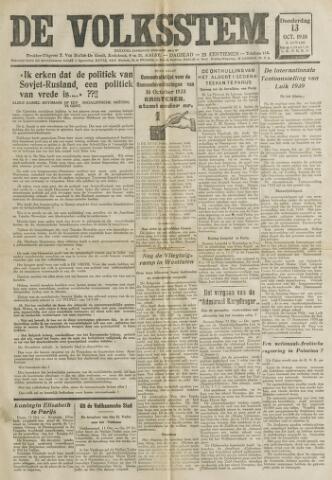 De Volksstem 1938-10-13