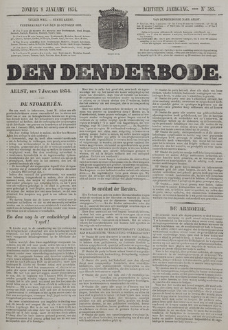De Denderbode 1854-01-08