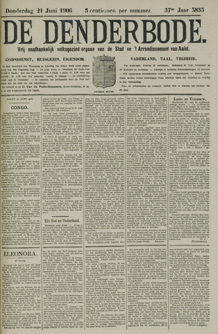 De Denderbode 1906-06-21