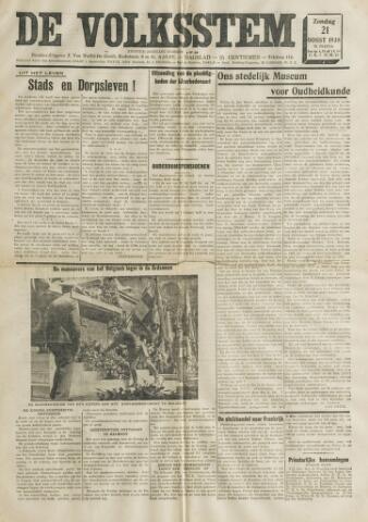 De Volksstem 1938-08-21