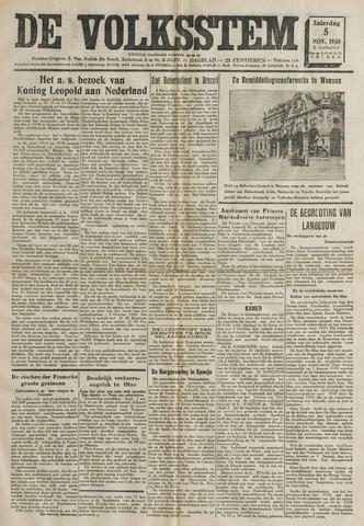 De Volksstem 1938-11-05