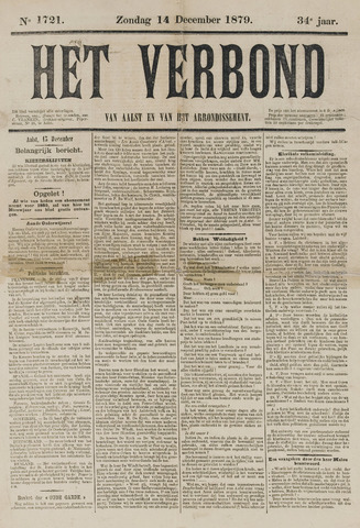 Het Verbond van Aelst 1879-12-14