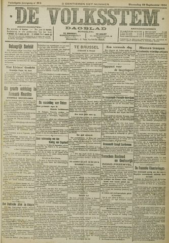 De Volksstem 1914-09-23