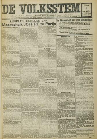 De Volksstem 1931-01-09