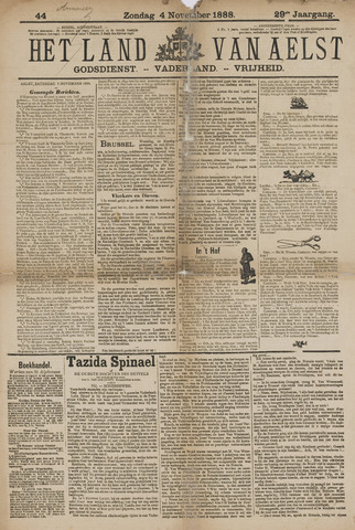 Het Land van Aelst 1888-11-04