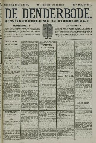 De Denderbode 1891-06-25