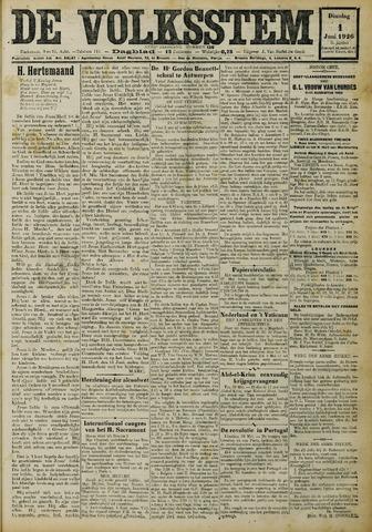 De Volksstem 1926-06-01