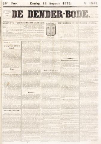 De Denderbode 1872-08-11