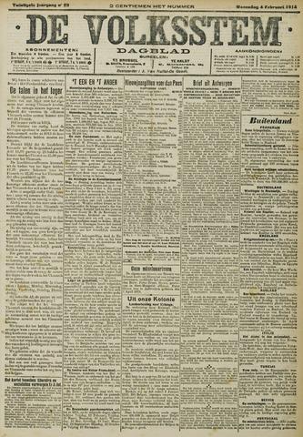 De Volksstem 1914-02-04