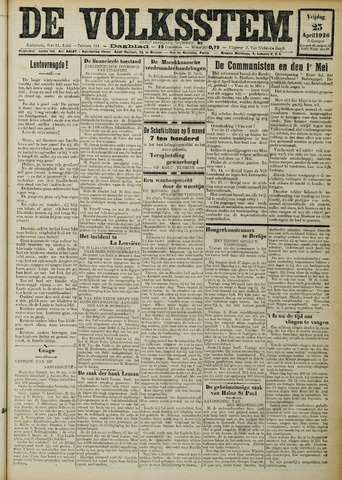 De Volksstem 1926-04-23