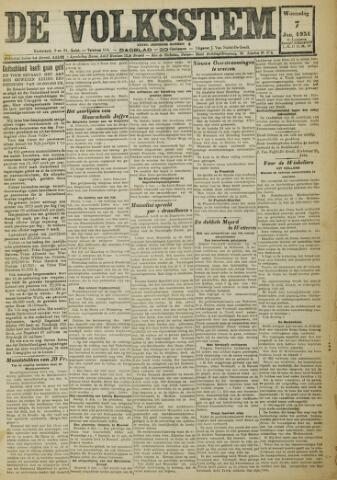 De Volksstem 1931-01-07