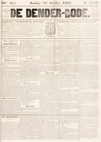 De Denderbode 1871-10-22
