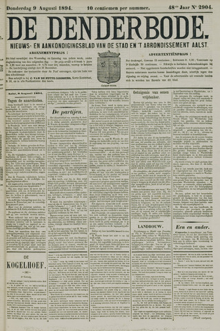 De Denderbode 1894-08-09