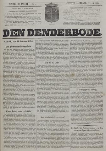 De Denderbode 1854-01-22