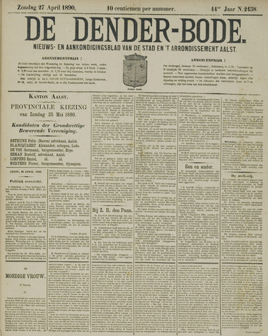 De Denderbode 1890-04-27