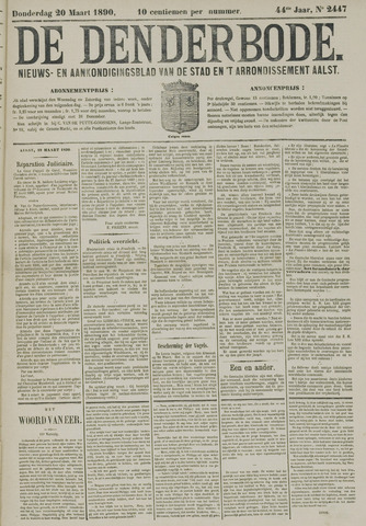 De Denderbode 1890-03-20