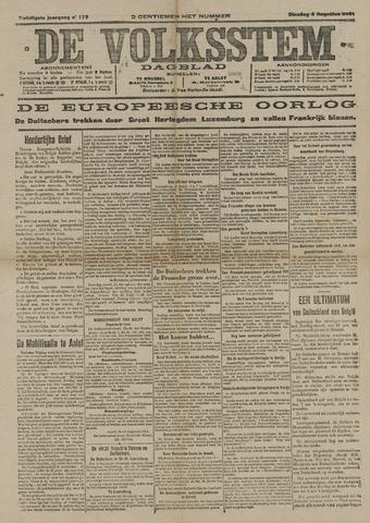 De Volksstem 1914-08-04