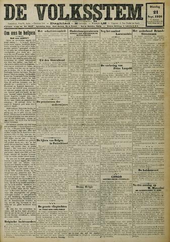 De Volksstem 1926-09-21