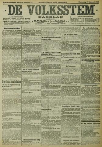 De Volksstem 1915-01-27