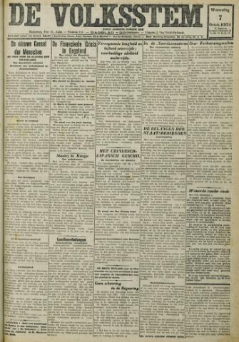 De Volksstem 1931-10-07