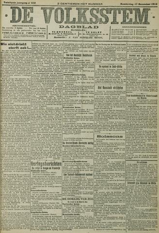 De Volksstem 1914-12-17