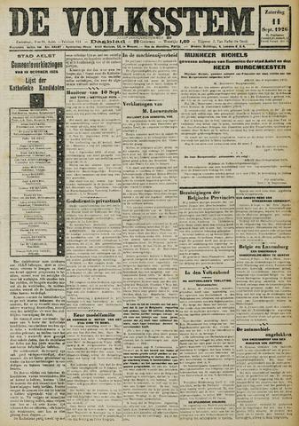 De Volksstem 1926-09-11