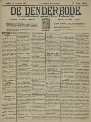 De Denderbode 1896-02-16