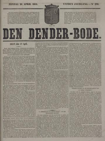 De Denderbode 1851-04-20