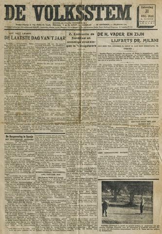 De Volksstem 1938-12-31