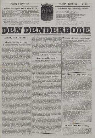 De Denderbode 1857-06-07
