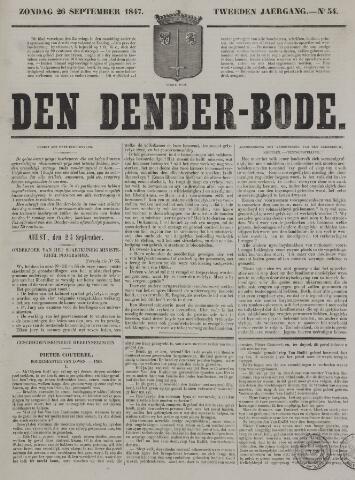 De Denderbode 1847-09-26