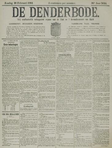 De Denderbode 1904-02-21