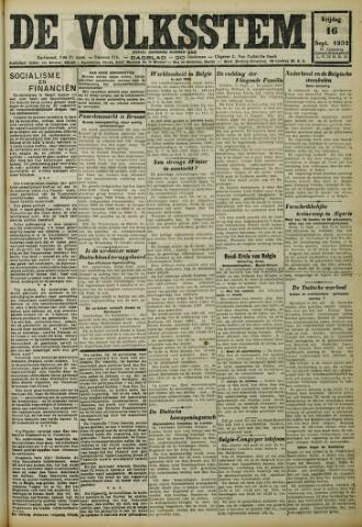 De Volksstem 1932-09-16