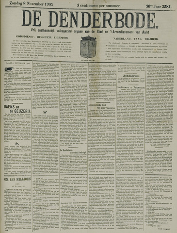 De Denderbode 1903-11-08