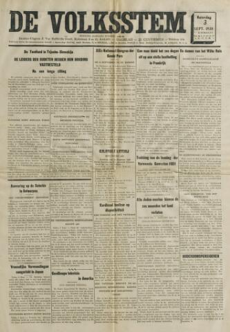 De Volksstem 1938-09-03