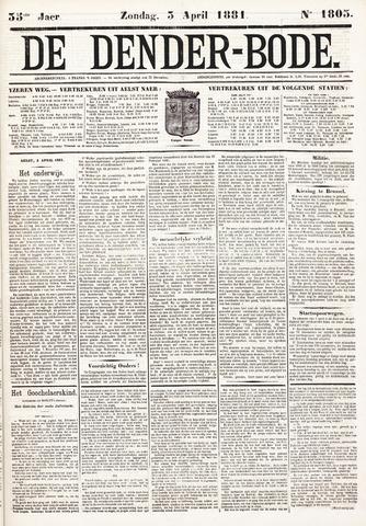 De Denderbode 1881-04-03
