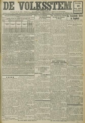 De Volksstem 1931-09-26