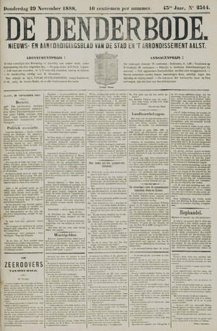 De Denderbode 1888-11-29