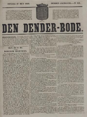 De Denderbode 1849-05-27