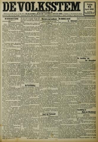 De Volksstem 1923-04-13